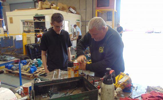 Jacob with Engineer Steve W